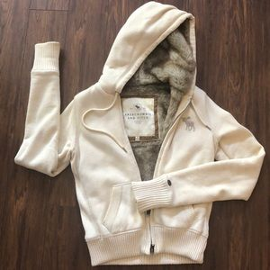 Tops - Abercrombie & Fitch faux lined hoodie